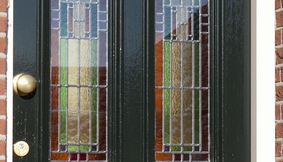 Glas-in-lood deur