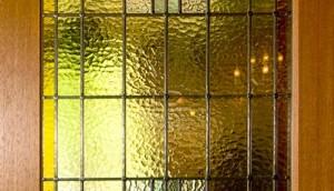 Glas-in-lood houten deur