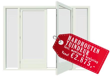 Hardhouten tuindeur prijs vanaf 2875 euro